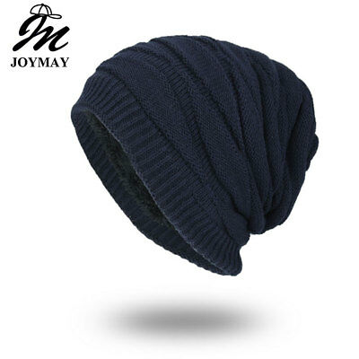 AKIZON  Winter Autumn Beanies Hat Unisex Plain Warm Soft Skull Knitting Cap