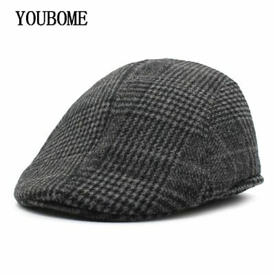 AKIZON Fashion Berets Hat Men Casquette Winter Hats for Men Male Peaked Visors
