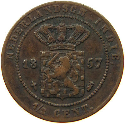 NETHERLANDS EAST INDIES 1/2 CENT 1857  #ro 317