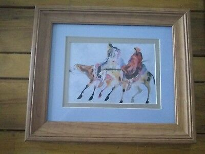 "Carol Grigg BRIDE'S WALK CHEROKEE 10.5"" X 12.5"" framed matted Print BEHIND GLASS"