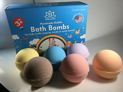 6 Bath Bombs with Turtles Ninja Toys Inside for Kids – Natural & Safe Fizzies