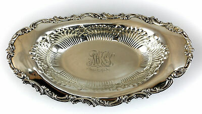 Whiting Sterling Silver Centerpiece Bowl, circa 1920. Applied Foliate Scrolls