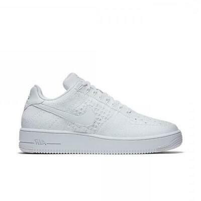 check out 3069c c706a Hommes Nike Af1 Ultra Flyknit Bas Baskets Blanc 817419 101