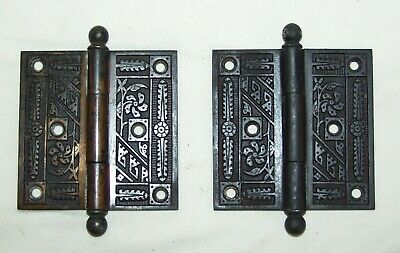 Outstanding Eastlake Style Door Hinges (Pair)