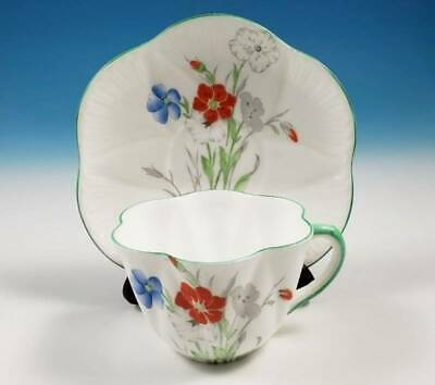 RARE Shelley Poppy Flower Dainty Shape Cup & Saucer 2198 Seconds Only Pattern