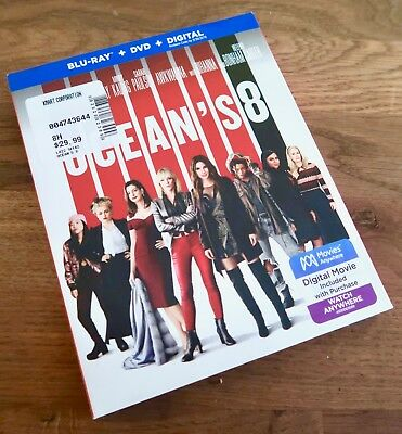 Oceans 8 Sandra Bullock Movie Blu-ray + DVD NO DIGITAL 2-Disc Set