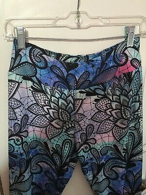 537bf46504fb3c Charlie's Project OS Leggings Black Lace Floral Tribal Waterfall Pastels  Easter