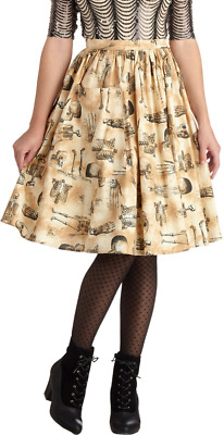 76ff1485ad Modcloth - Bea & Dot - Anatomical skeleton skirt Size 4x Halloween Goth  Spooky