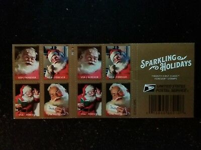NEW FOREVER Postage Stamps of 'SPARKLING HOLIDAYS' -12 ct.-FREE SHIP!