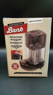 NEW Meridian Point Coin Sorting Bank - Black AUTOMATIC SORTER PIGGY machine