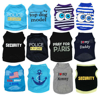 Boy Dog Clothes Cat Puppy Pajamas  Pet T Shirt F chihuahua teacup yorkie maltese
