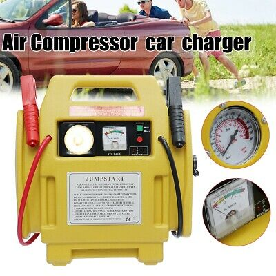 Vehicle Jump Starter Battery Booster Emergency Chargers Power Bank LED Inflator