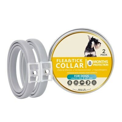 2PCS Adjustable Flea and Tick Collar Anti Insect for Pet Dog 8 Month Protection