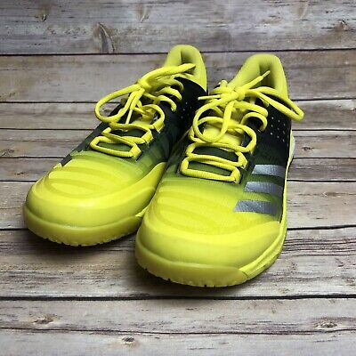 new concept 6a04e 78342 Adidas Womens Crazyflight X Volleyball Boost Shoes Sz 9.5 Yellow Black  BA9267