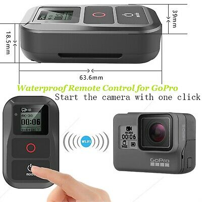 Suptig Waterproof Wireless WIFI Remote Control for GoPro Hero 3 3+ 4 5 6 7 Black