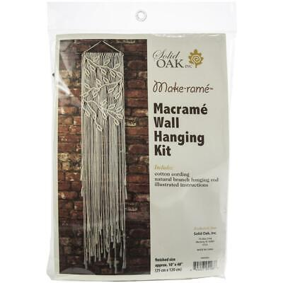 Birch MACRAME Wall Hanging Kit LEAVES & BRACHES 25x120cm MWH005 Knotting/Weaving