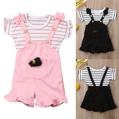 Newborn Baby Girl Ruffle Tops Shirt Tutu Pants Shorts Floral Clothes Outfits Set