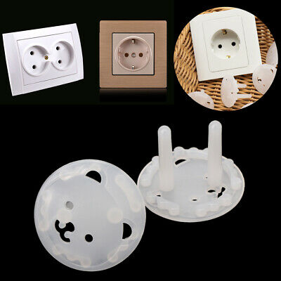 10pcs EU Stand Power Socket Cover 2 hole Electrical Outlet Baby Safety Protector