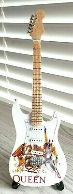 Queen Freddy Mercury Miniature Tribute Guitar with Stand - MCA 209