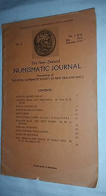 1954 NZ New Zealand Numismatic Journal Vol. 8 a 32 page newsletter