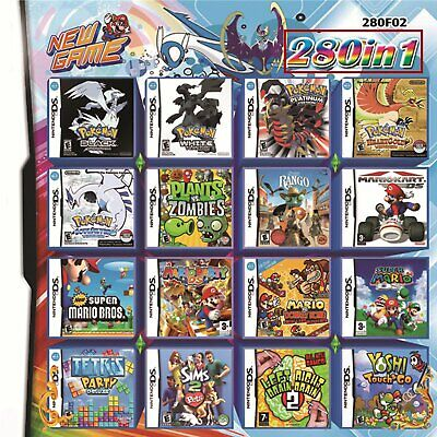 New 280 in 1 Combination Games Cartridge Game Card For 2DS NDS DSLITE/DSi/3DS/Xl