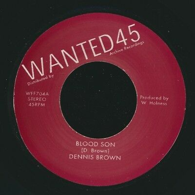 "NEW 7"" Dennis Brown - Blood Sun / Soul Syndicate - Version"