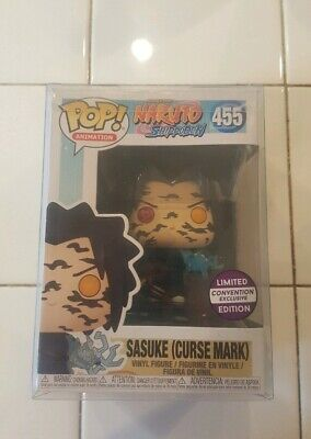 Funko Pop Sasuke (Curse Mark) [CONVENTION EXCLUSIVE] FREE SHIPPING w/ Soft Prote