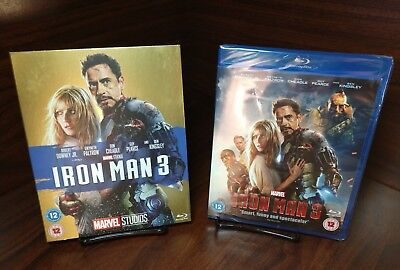 Iron Man 3 (Blu-ray,REGION FREE)Collector Edition Slipcover-NEW-Free Shipping