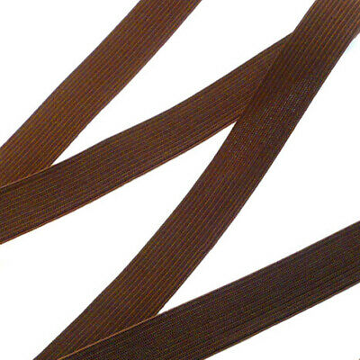 Chocolate Brown Knitted Elastic - 3 Yards