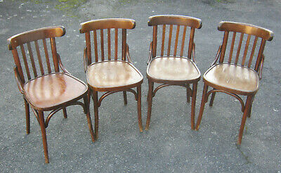 Suite Lot 4 Chaise Bistrot Ancienne Style Thonet