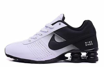 96a50093e3d NIKE SHOX DELIVER White Midnight Navy Mens Running Nike 317547 129 ...