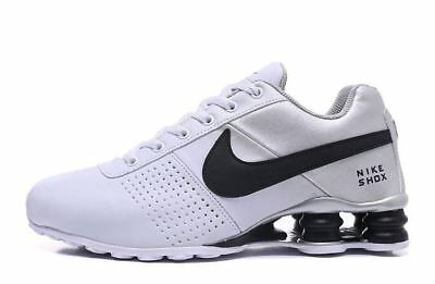 pretty nice ab1f2 77017 Mens Nike Shox Deliver WHITE SILVER BLACK Athletic Shoes Various Sizes