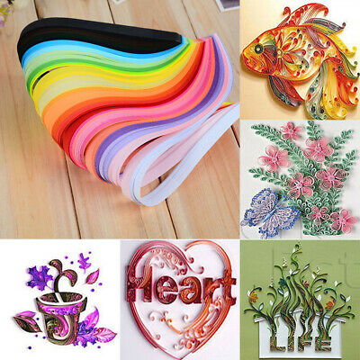 DIY Origami Art Strips 3/5/7/10mm Mixed Paper Art Quilling 260 Stripes Paper