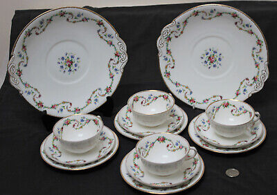 Vintage Royal Crown Chelsea China Maple & Co : Tea Coffee Set Plate Cup Saucer