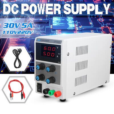 Adjustable DC Power Supply 30V 5A Variable Digital Regulated Lab Grade Gift