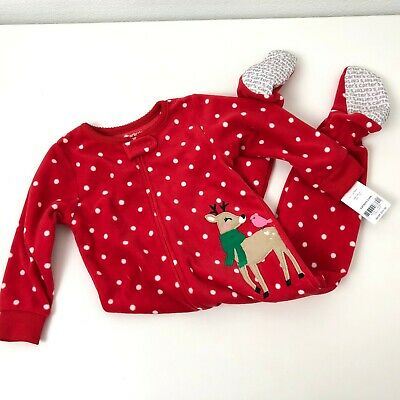 099a4853eb20 NWT CARTERS GIRLS FLEECE PAJAMAS FOOTED SLEEPER with donuts size 18 ...