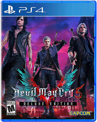 Devil May Cry 5 DE (PS4) COSTUMES+RED ORBS Pre-Order DLC Key Code (USA/CAN)