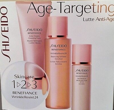 NEW Shiseido 1.2.3 Benefiance WrinkleResist 24 Age-Targeting - Lutte Anti-Age