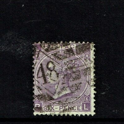 GB QUEEN VICTORIA 1867 Cat.£190.00, 6d DEEP LILAC Mi.29, SG104 VERY FINE USED