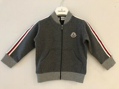 Moncler Baby Age 18-24 Months Track Jacket Grey Jersey Cotton BNWT RRP £160.00