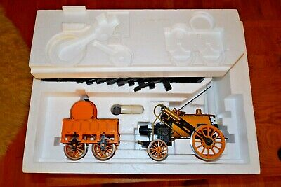 Vintage Hornby Boxed Stephensons Rocket Real Steam Train with Track; 3 1/2 gauge