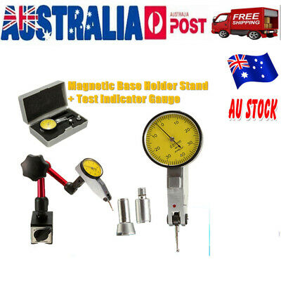 Flexible Magnetic Base Holder Stand w/ Scale Precision Dial Test Indicator Gauge