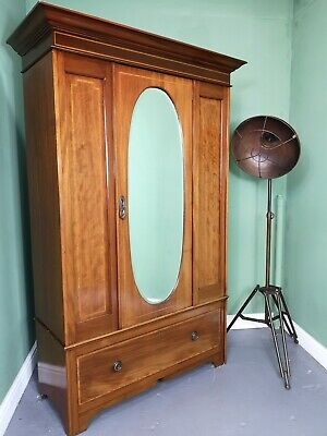 An Antique Mahogany Single Door Wardrobe ~Delivery Available~