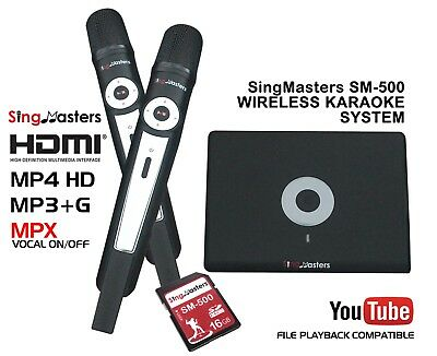 SingMasters Magic Sing Karaoke Machine Player,Digital Dual Wireless Mics,MP3+G
