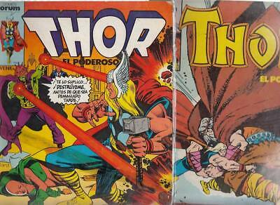 THOR.  VOL. 1    Nºs.   7.  40 .   ( LOTE  2  NUMEROS )  EDITORIAL FORUM