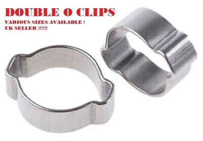 DOUBLE O CLIP Fuel Line Hose Spring Clips Water Pipe Air Tube Clamps