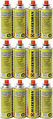 12 x BUTANE GAS BOTTLES CANISTER CAMPING HEATER COOKER BBQ COOKING STOVE GRILL
