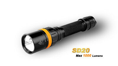 Fenix Sd20 Led Diving Torch with White and Red Light 1000 Lumen to 100m Depth