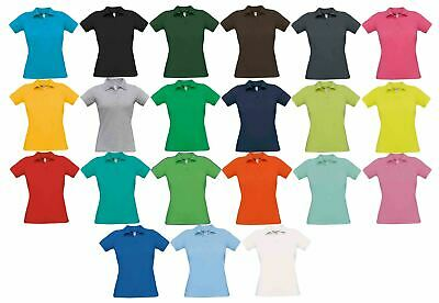 B&C Collection Women's Safran Pure Ladies Short Sleeve Polo Shirt Top Tee