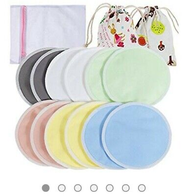 6 Pairs of Reusable Breast Pads With Storage Bag